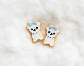 Kawaii Bear Earrings / Cute Earrings / Kawaii Earrings / Posts / Studs / Bear / Cookie / Earrings