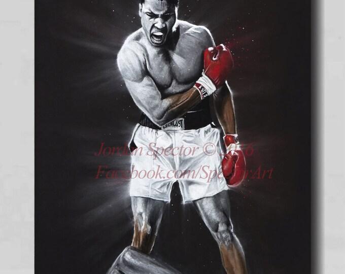 Muhammad Ali - Muhammad Ali - Canvas Print - The Great Ali - Wall Art- Man Cave - Boxing Decor - Ali Art - Boxing - Gift Idea - Sports Art