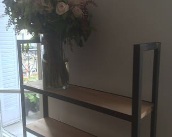 Small shelf, kitchen or living room wood and steel