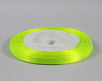 22 m satin ribbon yellow 6 mm