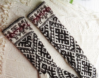 wool socks, hand knit upcycled clothing, cashmere socks, baltic signs  No332