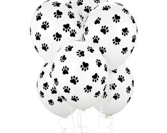10 CT Paw Print Balloons/ Paw Print Party Decor/ Puppy Dog Balloons/ Cat Balloons/ Paw Print Party  sc 1 st  Etsy : paw print paper plates - pezcame.com