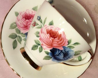 Pretty In Pink-Royal Trent Teacup and Saucer Staffordshire