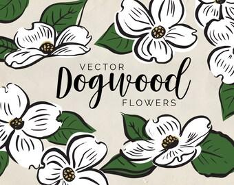 dogwood clipart etsy rh etsy com dogwood clipart free dogwood flower clipart