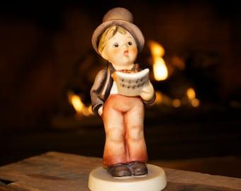 "Hummel Goebel Germany Porcelain ""Street Singer"" Figurine - #131, TMK 3 Large Stylized Bee"