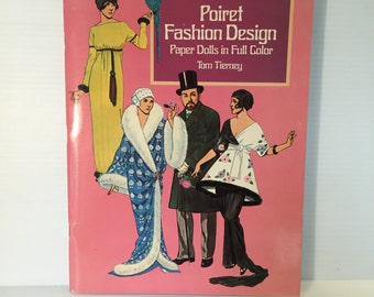 POIRET FASHION Design paper dolls, vintage paper doll, Tom Tierney paper dolls, SIGNED dolls, fashion designer paper doll, uncut paper dolls