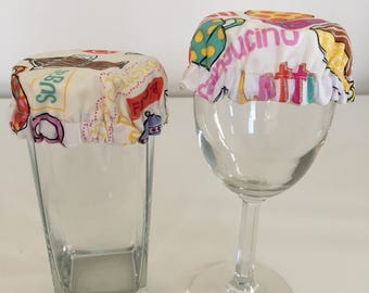 Reusable Wine Cup Glass Drink Cover Coffee Tea Cafe Fabric