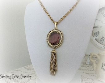 Vintage Avon Purple Pendant Necklace