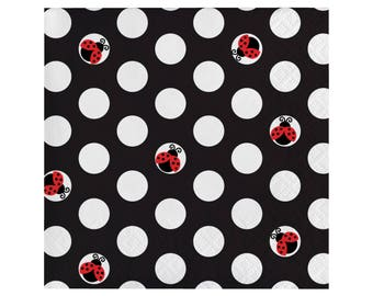 Ladybug Napkins   Ladybug Birthday Decorations   Lady Bug Party   Girl Baby  Shower   Red
