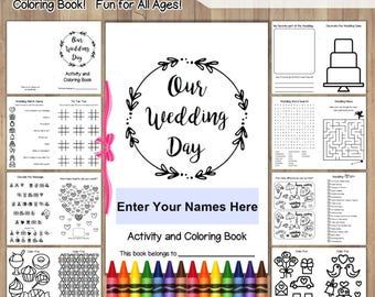Kid wedding activity | Etsy