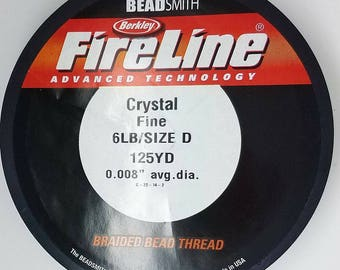 4,6, or 8 LB FireLine CRYSTAL or SMOKE 125yard