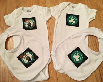 Boston Celtics Onesie and Bib Set