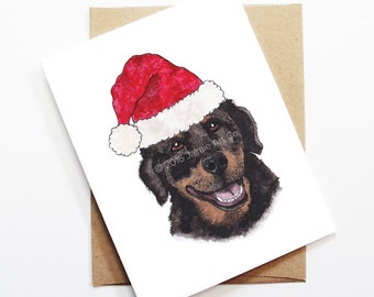 Christmas Card - Rottweiler, Dog Christmas Card, Cute Christmas Card, Holiday Card, Xmas Card, Seasonal Card, Christmas Card Set