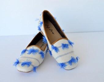 Cotton tasseled women shoe 38 euro size