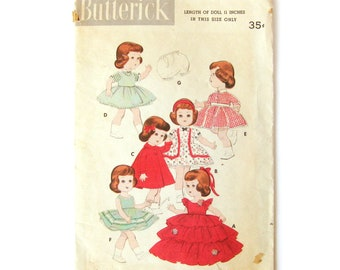 1950s Doll Wardrobe Pattern / Littlest Angel Doll / Petticoat / Panties/ Sundress / Gown for Doll / Vintage Sewing / Butterick 7971