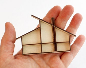 The Split Roof, a Modern MINI Dollhouse - 1:144 scale