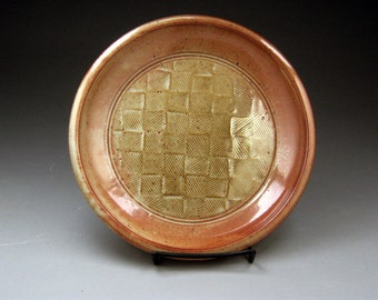 Stoneware Dinner Plate With Impressed Textural Design-Made To Order