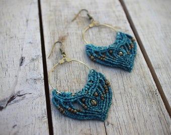 Gypsy macrame earrings. Choose your colour