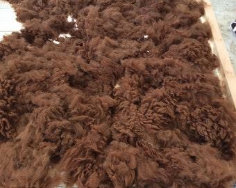 100% Raw Huacaya Alpaca Fleece