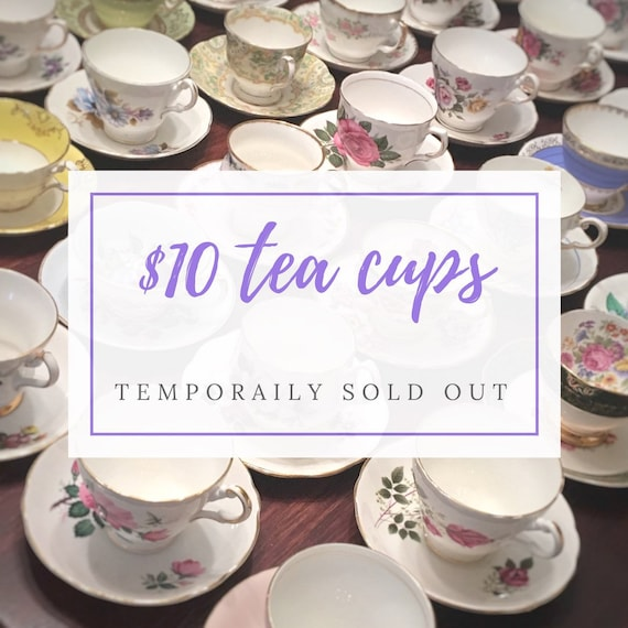 Complete Tea Party Set Mix and Match Vintage Tea Cups