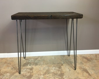Entry Table,Sofa Table, Wood Console Table  with Reclaimed Wood with Hairpin Legs, FREE SHIPPING !!!