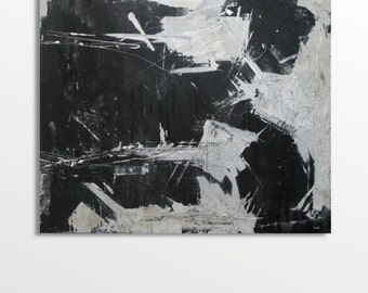 Large square abstract painting. One off. Unique piece.
