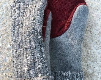 Wool Blend Mittens (L)