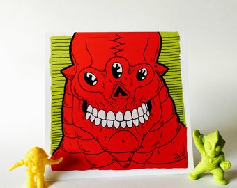Red Alien Monster 4x4