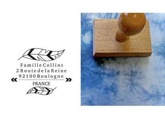Address stamp custom family Collins, custom address stamp, stamp address stamp custom wedding stationery