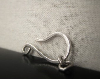 Sterling Silver Hook Clasp Silver Hook and Eye Closure Item No. 2626