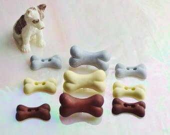 Dog Bone Buttons ~ Terrarium Accessories ~ Decorate your Terrarium or Mini Garden with these cute little Dog Bones - Crafting Supply