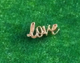 Silver Love Cursive Script Floating Charm for Living Locket