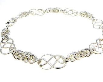 Bracelet with Celtic Knots and Byzantine Chain