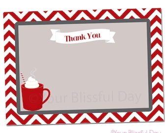 PRINTABLE Hot Chocolate Party Thank You Cards #109