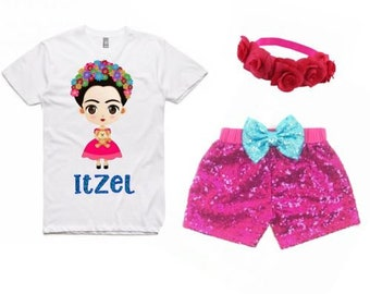 Frida Kahlo Birthday Shirt, Girls Mexican Birthday Shirt, Fiesta, Mexican Birthday Party, Baby Frida Kahlo, Frida Kahlo Birthday Party,