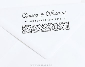 Wedding Stamp • Wedding logo • Wedding lace • Wood rubber stamp • Save-the-Date cards • Lace pattern
