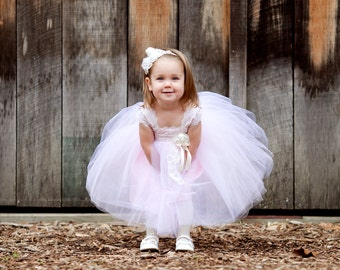 Christina Dress,  Tutu Dress, Princess Dress, Tulle  Lace Dress, Flowergirl Dress, Special Occasion, Pageant Dress, Birthday Dress, Pageant