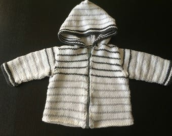 Handmade knit sailor vest kids