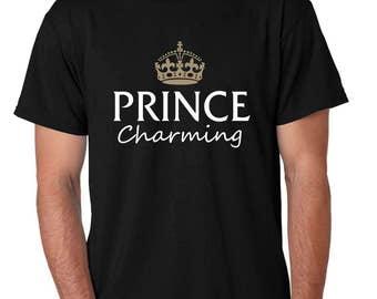 Men's Tee Shirt Prince Charming Cool Funny Humor T-Shirt