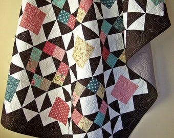 Handmade Throw Quilt-Throw Blanket-Throw Quilt-Sofa Throw-Bed Throw-Handmade Lap Quilt-Quilted Lap Throw-Quilts For Sale-Ready to Ship