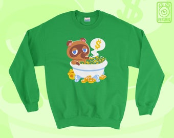 Tom Nook 'Bank Bath' SWEATER // Animal Crossing // New Leaf // Pocket Camp // Video Game Gifts