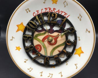 Celebrate 8 1/4 Inch Christmas Clock Plate !