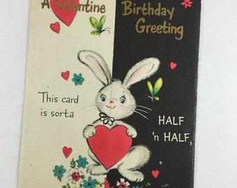 Vintage Valentine Birthday Greeting