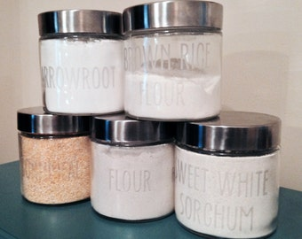2x Ceramic Canisters With Cork Lid Ceramic Spice Jars