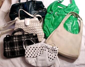 Vintage Handbag Lot Various Styles Designers Colors Six bags (2)