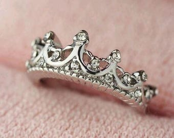 Silver Crown Princess Ring