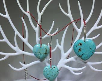 Jewelry Set Magnesite Heart Set