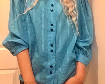 Puff Sleeved Sky Blouse
