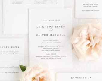 Leighton Wedding Invitations - Sample