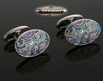 Personalized initials,Exquisite painted design cufflinks, retro cufflinks, decorative pattern cufflinks, non-mainstream cufflinks